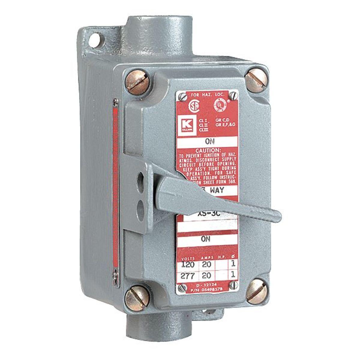 Hubbell manual motor starter toggle haz location gamut for Hazardous location motor starter