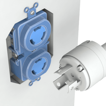 NEMA Turn-Locking Female Receptacles