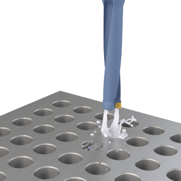 Indexable-Tip Drill Bits for Smaller Holes