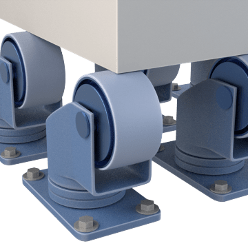 Inverted Mount Plate Casters