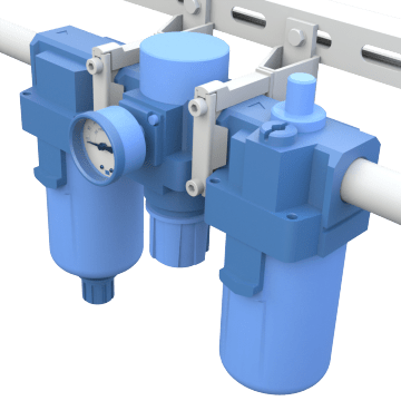 3-Piece Air FRL Combination Units