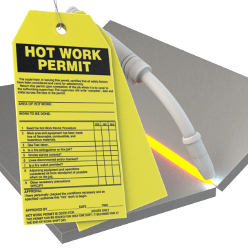 Confined Space & Hot Work Tags