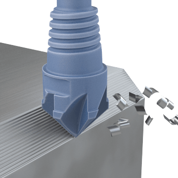 Exchangeable Chamfer End Mills