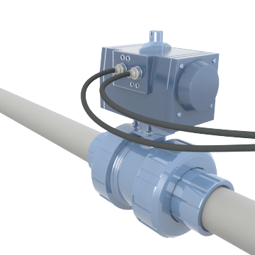 Air-Operated Water & Wastewater Treatment Plastic Ball Valves
