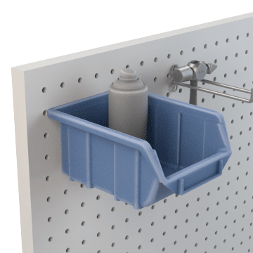 Pegboard Shelves & Bins