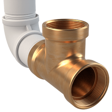 Threaded Red Brass Pipe Fittings