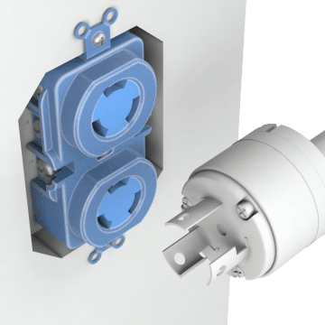 Non-NEMA Turn-Locking  Female Receptacles