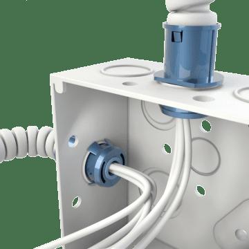Flexible Conduit Snap-In Straight Connectors