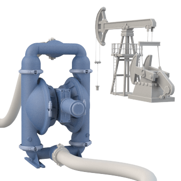 Natural Gas-Operated Diaphragm Pumps