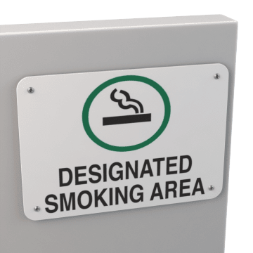 Designated Smoking Signs