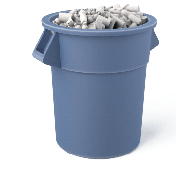 Plastic Trash Containers
