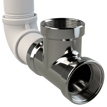 Chrome-Plated Brass Pipe Fittings