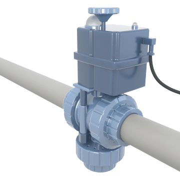 Electronically Operated Plastic Ball Valves
