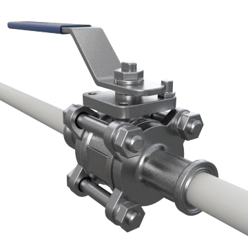Manual Sanitary Food Grade Metal Ball Valves