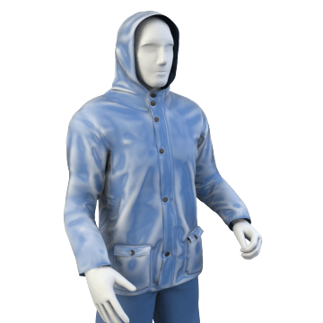Flame-Protection Rain Suits