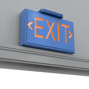 Lighted Exit Signs