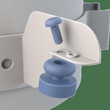 Vibration Isolators for Motor Belly Band Mounts