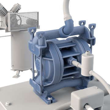 Heavy Duty Air-Operated Double Diaphragm Pumps
