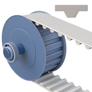 Trapezoidal-Tooth Timing Belt Pulleys
