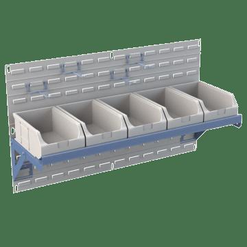 Louvered Panel Hooks & Shelves