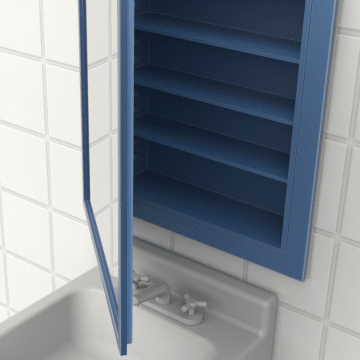 Bathroom Shelves & Cabinets