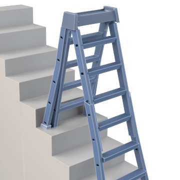 Adjustable Leg Step Ladders
