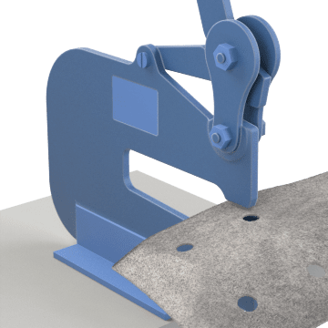 Lever-Driven Hole Punches