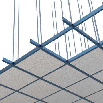 Ceiling Tile Suspension Framing