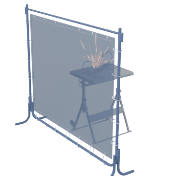 Freestanding Welding Screens