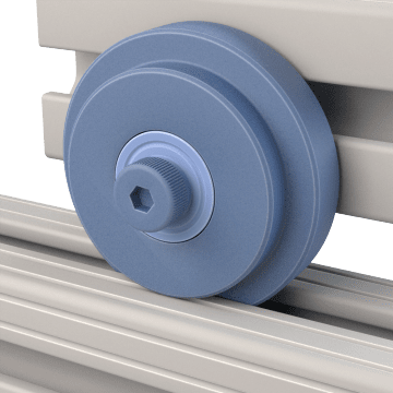 Roller Wheels for Structural Framing Extrusions