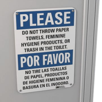 Restroom Etiquette Signs