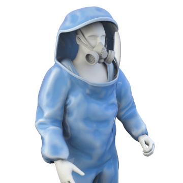 Chemical Splash-Resistant Encapsulated Suits
