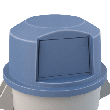 Plastic Trash & Recycling Container Lids