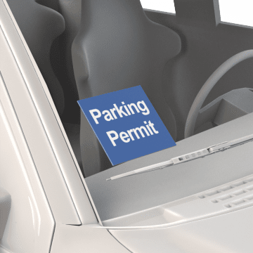 Parking Permit Labels