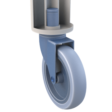Friction-Ring Stem Casters