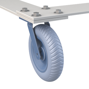 Smooth-Ride Tire-Style Plate Casters