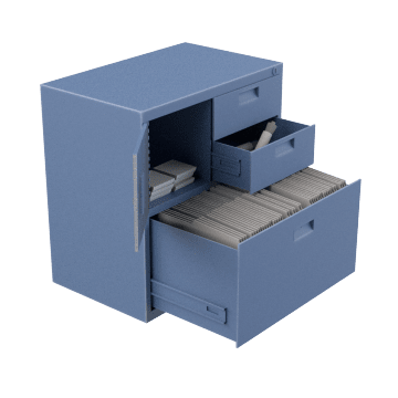 Combination Storage & Filing Cabinets