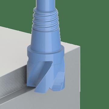 Exchangeable Shoulder Milling End Mills
