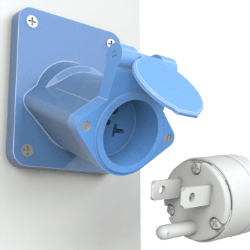 NEMA Straight-Blade Enclosed Female Receptacles