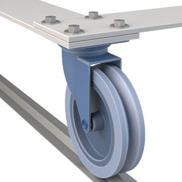 Track-Wheel Plate Casters