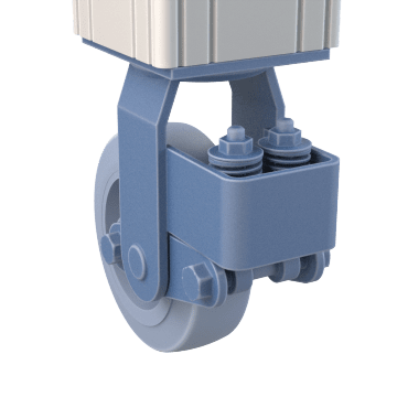 Shock-Absorbing Plate Casters