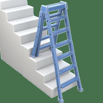 Adjustable Leg Step Ladders