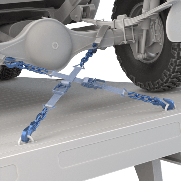 Tie-Down Straps with Chain Anchors