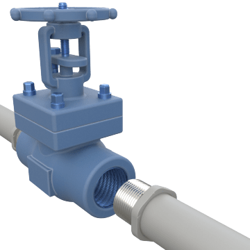 Pipe Thread Connection Metal Gate Valves