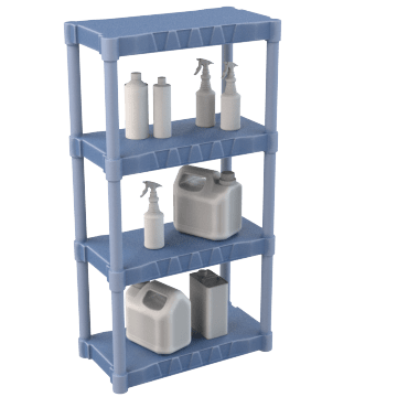 Light Duty Plastic Shelving