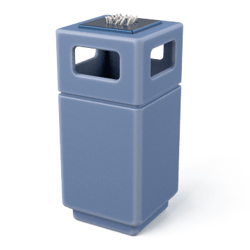 Combination Cigarette Disposal Receptacles & Trash Containers