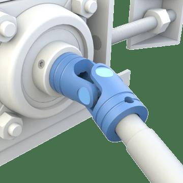 Single Pin-and-Block U-Joints