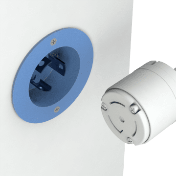 NEMA Turn-Locking Male Receptacles