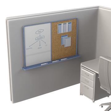 Bulletin & Dry-Erase Combination Boards