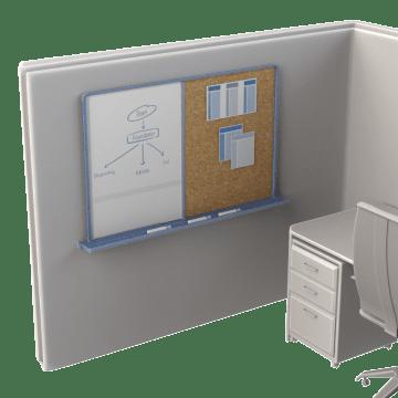 Bulletin & Dry-Erase Combination Boards